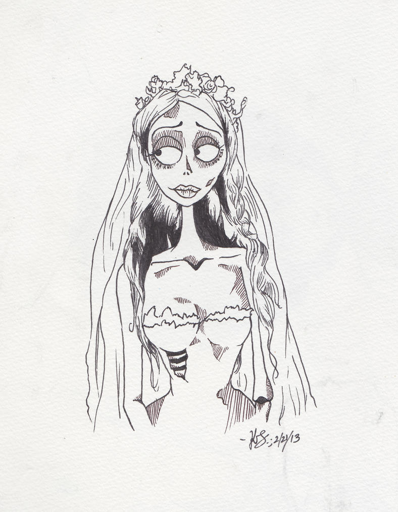 Corpse Bride Coloring Pencil Coloring Pages