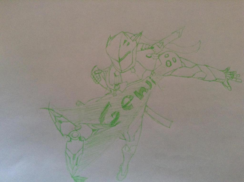 Inktober:Genji by crazycactusboy