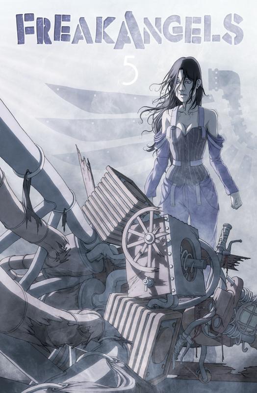 Freakangels Volume 5 Cover by spoonbard