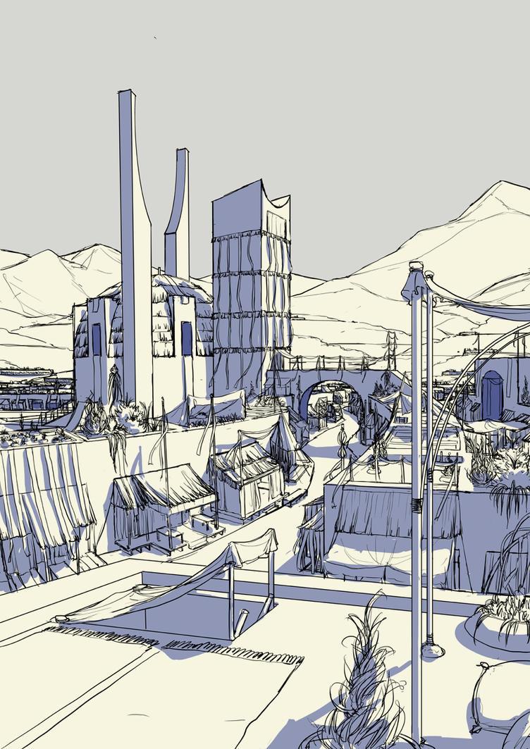 Azul Marketplace -rough- by spoonbard