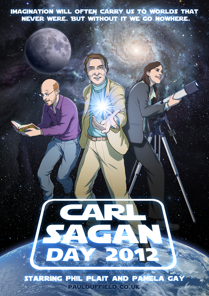 Happy Carl Sagan Day 2012 by spoonbard