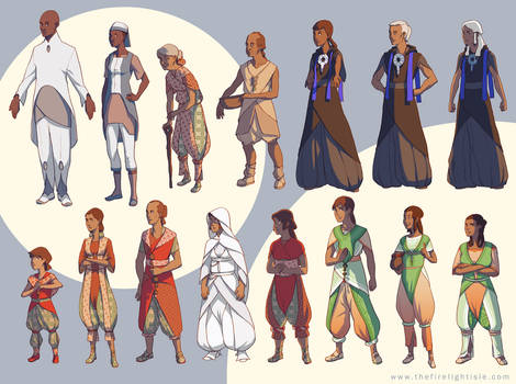 Firelight Isle Character Lineup
