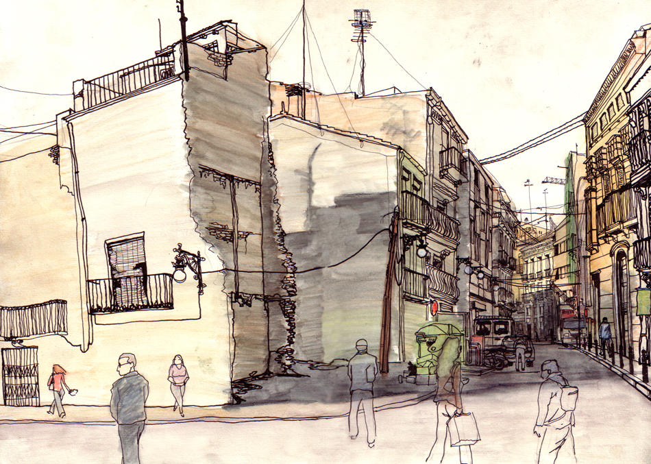 Down Town Valencia by spoonbard