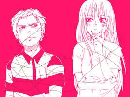 pink -MxD as human by marsbarrl