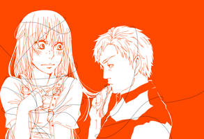 orange -MxD as human by marsbarrl