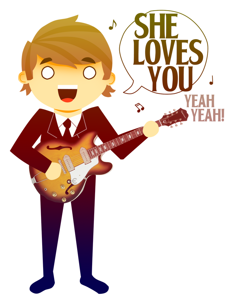 The Beatles She Loves You-Roll Over Beethoven