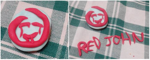 Red John biscuit by Thinkinboutart