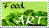 Food is Art stamp by Tricia-Danby