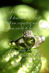Affirmation - I am loving by Tricia-Danby