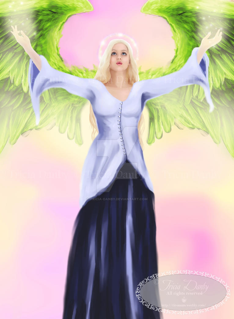 Angel of Gratitude by Tricia-Danby