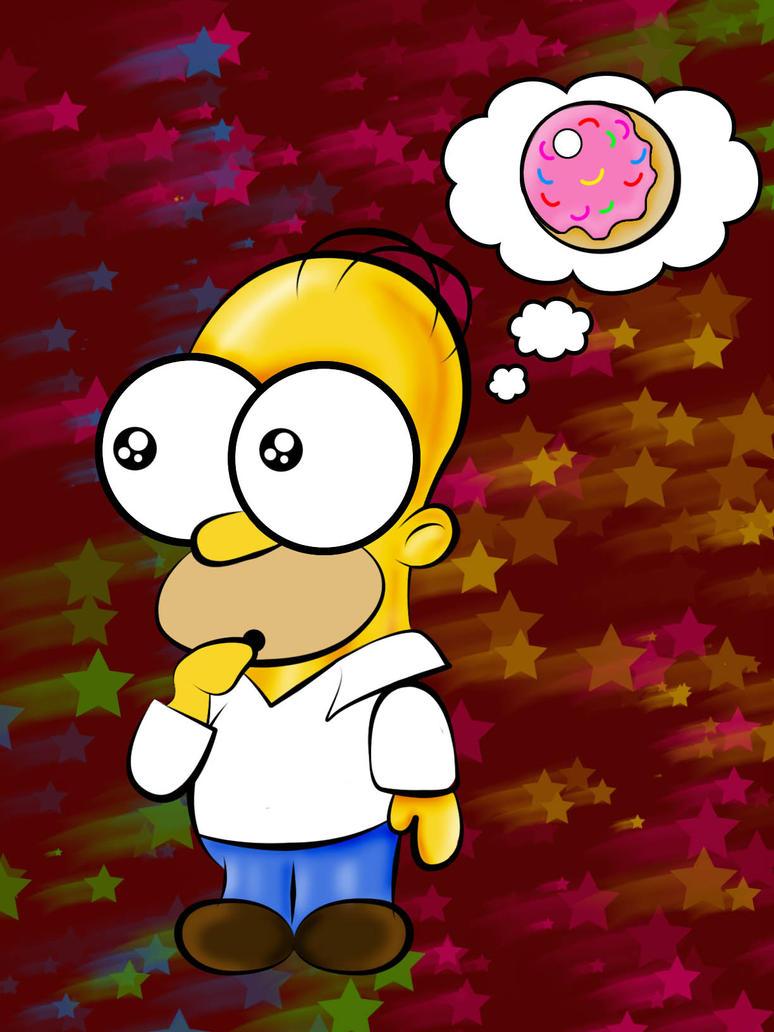 Chibi Homer Simpson by lunablackkuran