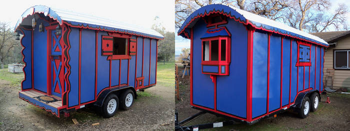 Gypsy Wagon Exterior Finished