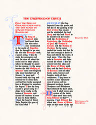 Froissart's Chronicles, Page One