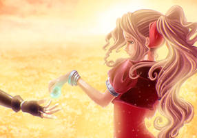 I'll always be with you - Aerith fanart FF7 by Joliet