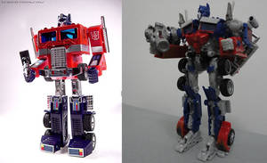 G1 Optimus Prime vs. Movie Optimus Prime