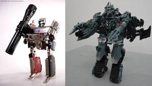 G1 Megatron vs Movie Megatron