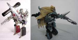 G1 Megs Sword and Gun vs Movie Megs Sword and Gun