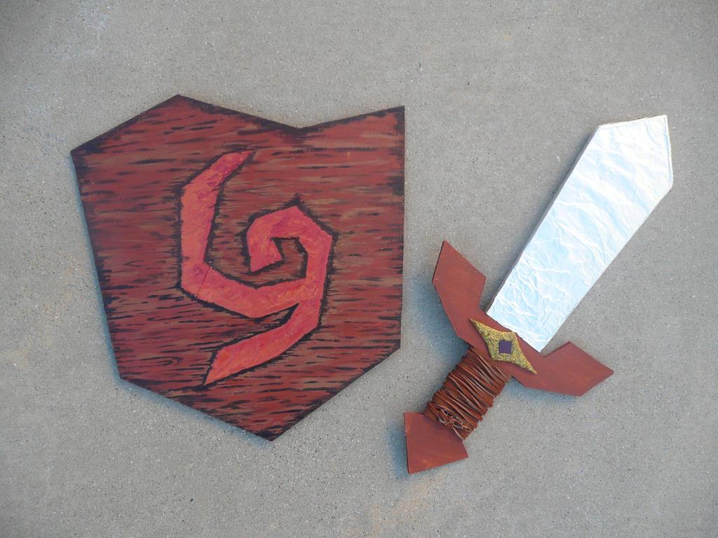 kokiri sword and deku shield by zeldadungeon on deviantart