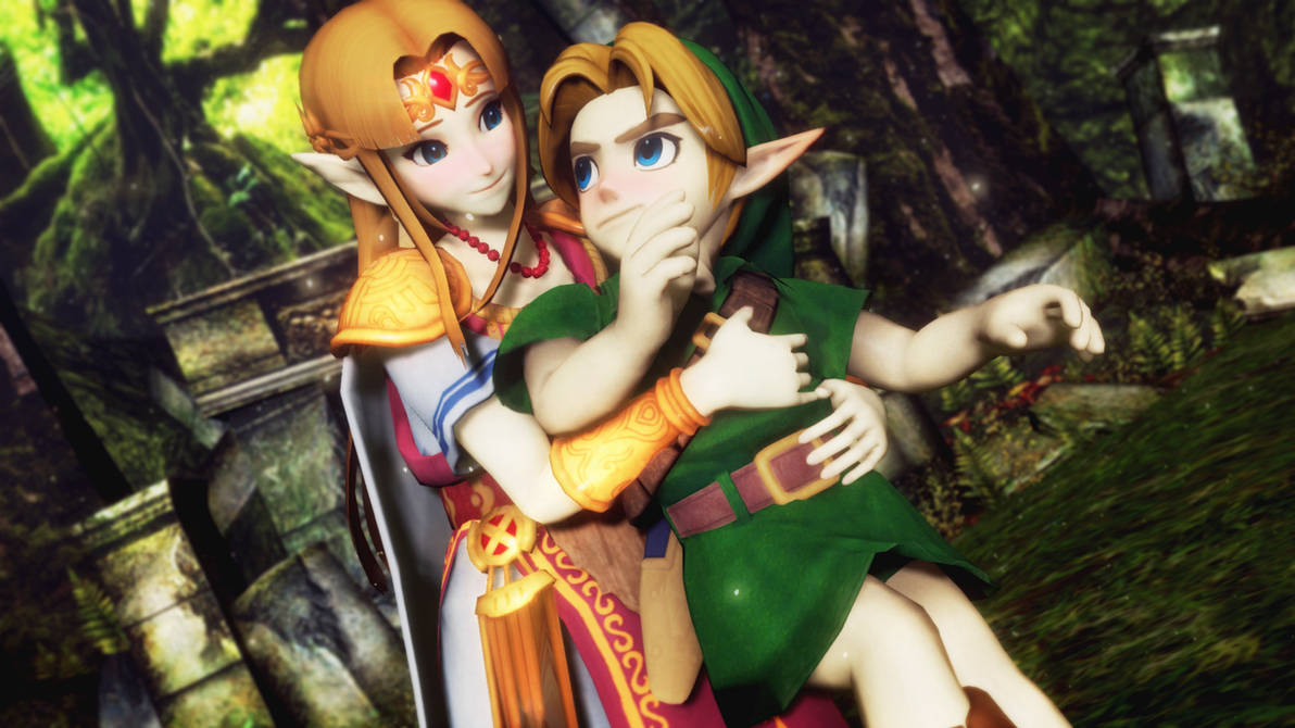 MMD - SSBU Zelda and Young Link by hallowedgal on DeviantArt