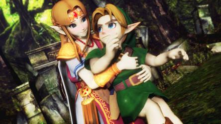 MMD - SSBU Zelda and Young Link