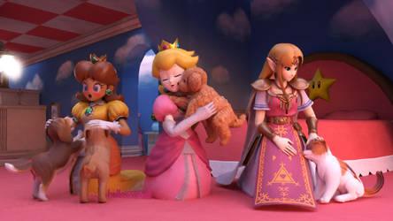 Blender - Princesses with Pets