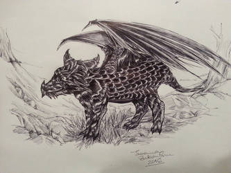 Little dragon by Lythael