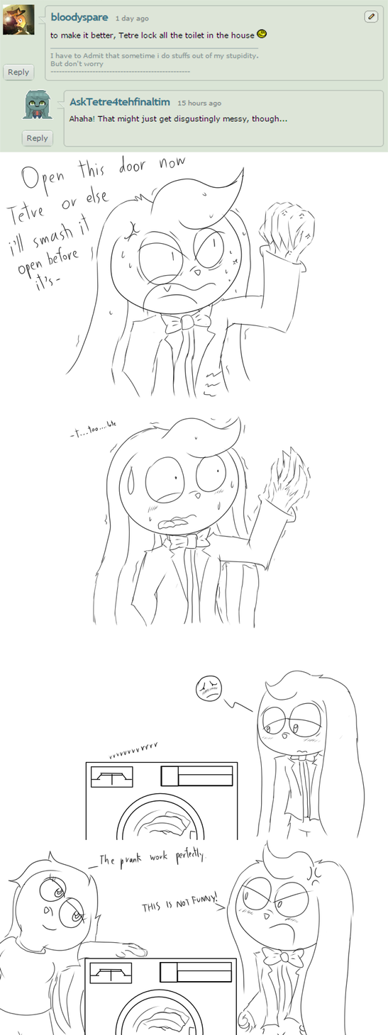 the aftermath of laxative pranks [Dapper] by bloodyspare
