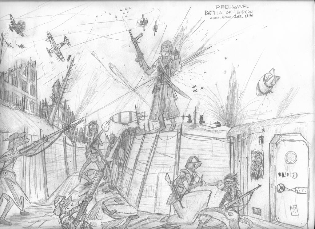 Some Non Canon Elder Scrolls Wwi Wwii Drawing By
