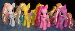 G1 to G4 Rainbow Curl Custom Ponies - Group Shot