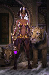 Draenei with Tigers