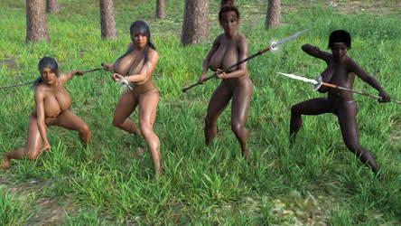 Tribal Girls by Hexaghost6