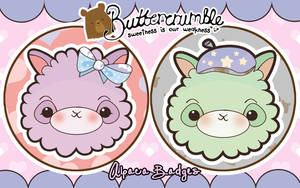 Alpaca Badges by Abblecrumble