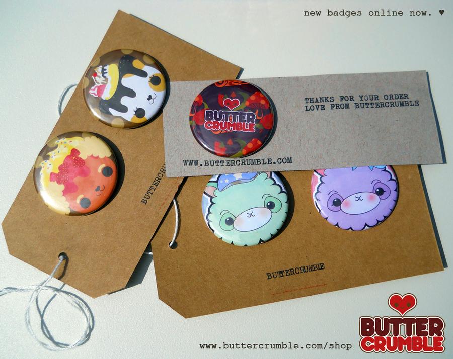 Buttercrumble Badges by Abblecrumble