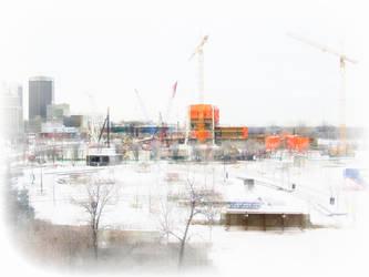 WInnipeg Construction in Winter by karl-d