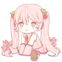Pixel Art: Sakura Miku Page doll by AmiMochi