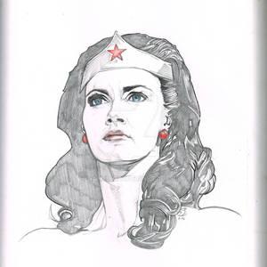 Wonder Woman Linda Carter sketch pad pencils
