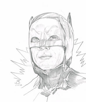 Batman 1966 Adam West pencils