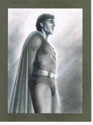 Superman bw Christopher Reeve