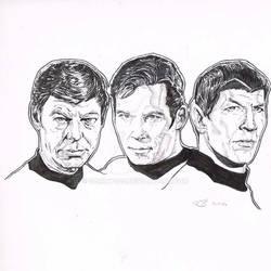 Star Trek wip Kirk Spock McCoy
