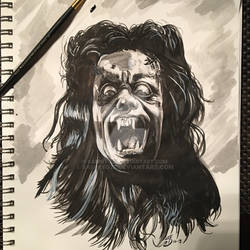 The Howling Inkwash in sketch pad