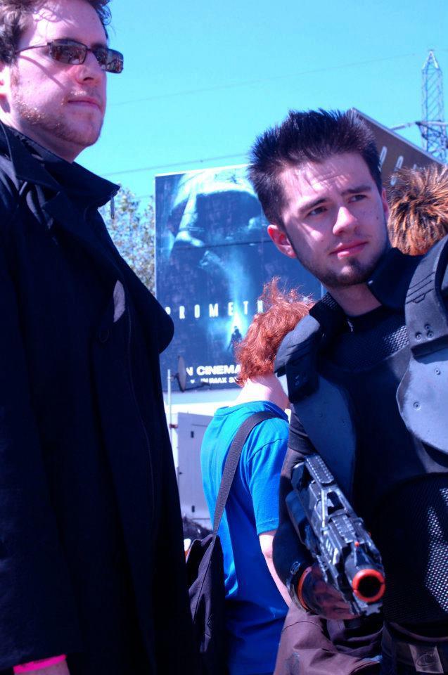MCM london 2012 JC Denton with Adam Jensen by waringpepper ...