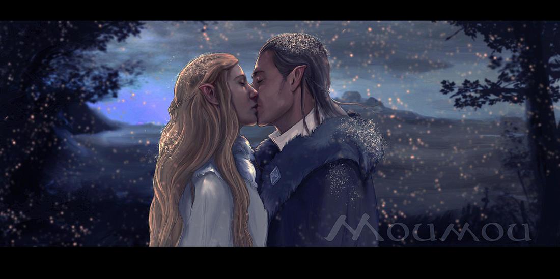 Celeborn Galadriel and snow