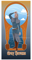 Art nouveau Grey Havens by Moumou38