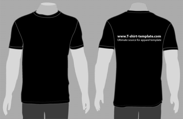 plain black t shirt template front and back by t shirt template on