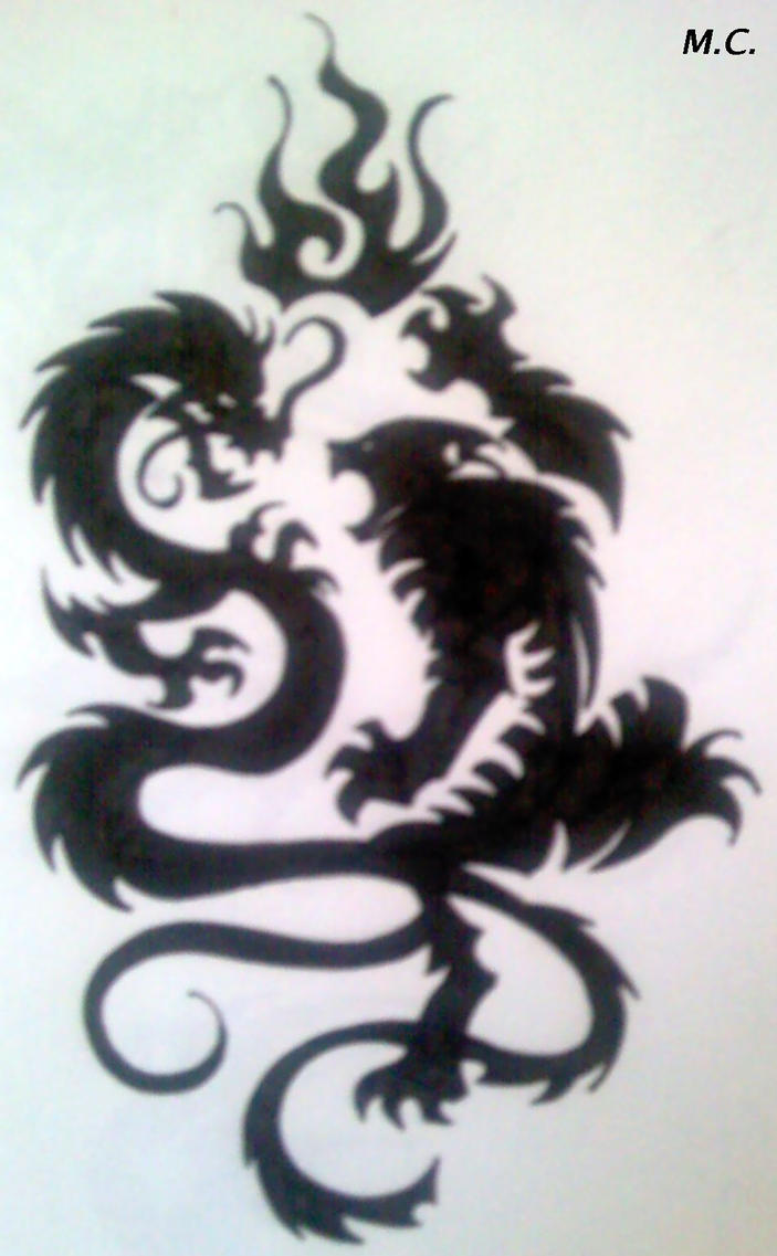 Tiger and Dragon Tribal by Inimputable on DeviantArt