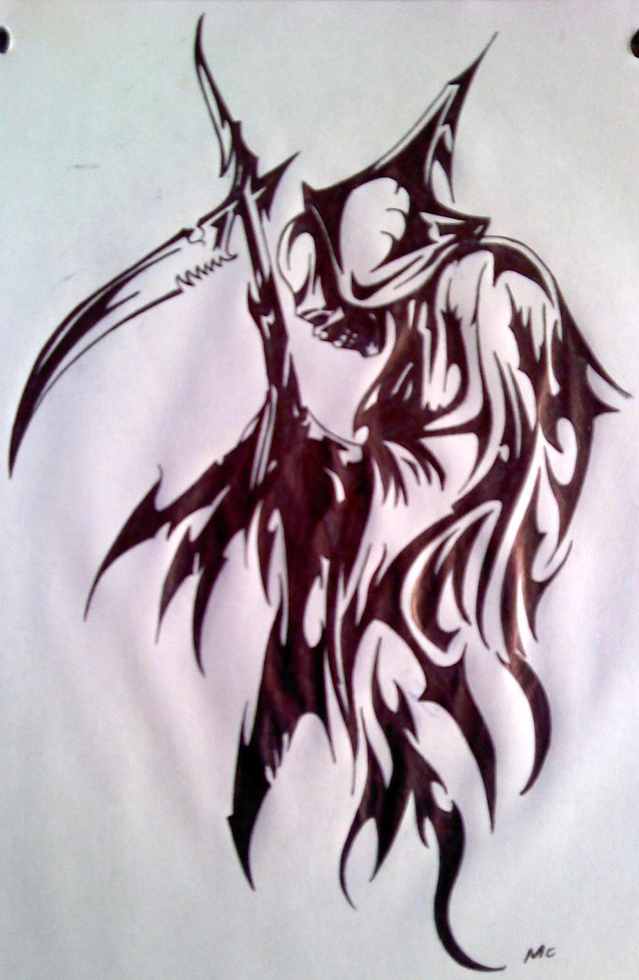 Tribal Grim Reaper by Inimputable on DeviantArt