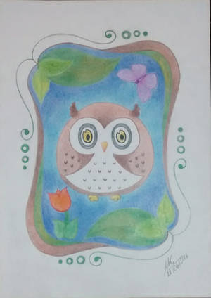 Owl Portrait by Inimputable