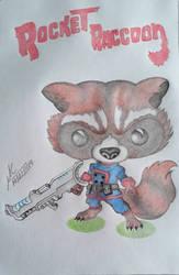 Cute Rocket Raccoon by Inimputable