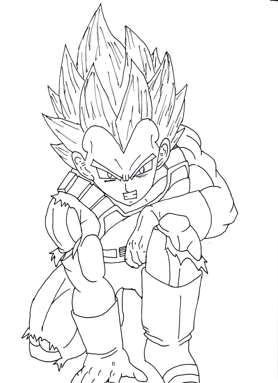 Line Drawing In C : Dragon ball z super vegeta drawing pixshark
