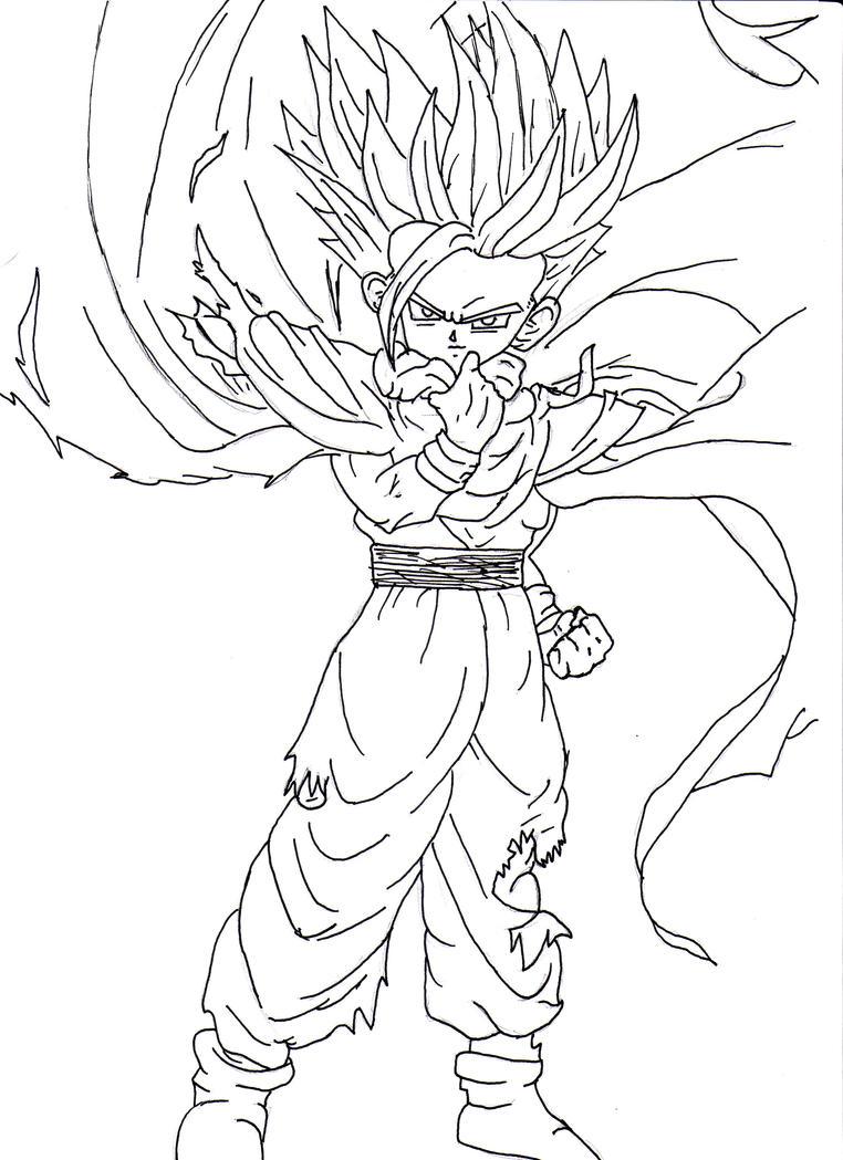 Excelente Dragon Ball Z Gohan Para Colorear Ideas - Dibujos Para ...